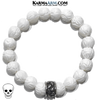 Skull Meditation Wellness Yoga Bracelets. Mens Wristband Jewelry. Lotus Carved Tridacna. copy