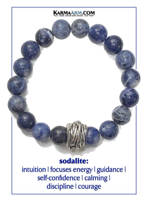 Sodalite. Yoga Meditation bracelets. self-care wellness mens bead wristband jewelry.  copy