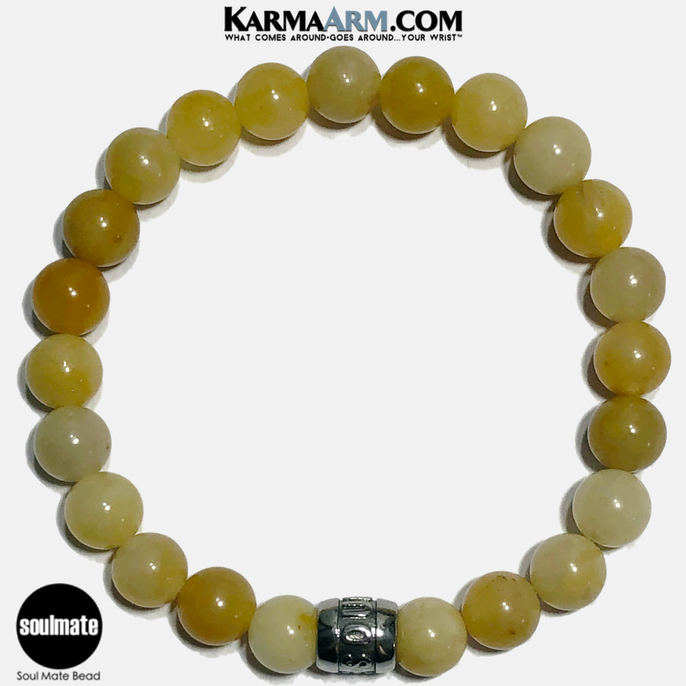 Soul Mate Soulmate Meditation Mantra Yoga Bracelets. Self Care Wellness Wristband Jewelry. Yellow Aventurine. copy 13