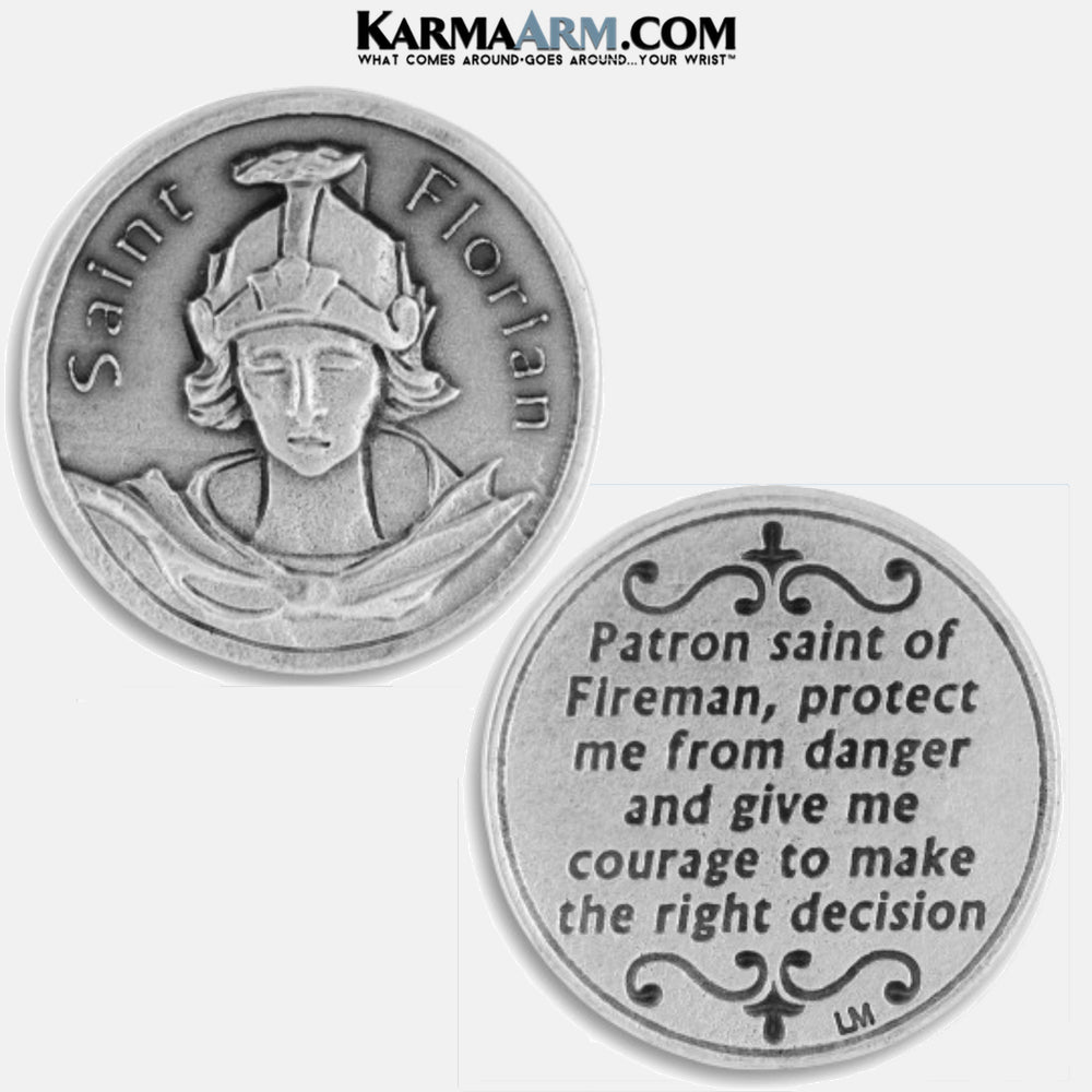 St. Florian | Patron Saint of Fire Fighters‎ Firemen Miracle Medal Pocket Token. Healing Saints | Prayer Tokens.  Lucky Poker Pocket Tokens.  Inspirational coins. copy 4