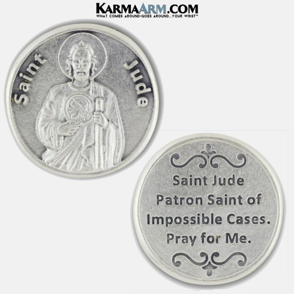 St. Jude | Patron Saint of Impossible Causes‎ Miracle Medal Pocket Token. Healing Saints | Prayer Tokens.  Lucky Poker Pocket Tokens.  Inspirational coins. copy 3