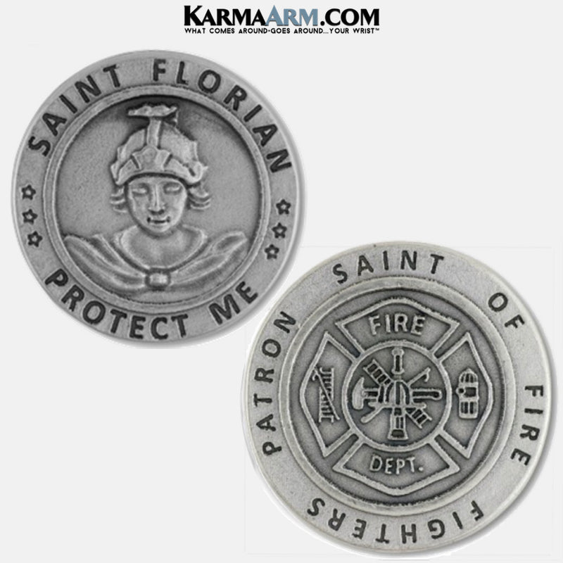 St Florian Pocket Token. Healing Saints | Prayer Tokens.  Lucky Poker Pocket Tokens.  Inspirational coins. Patron Saint of Fire Fighters.