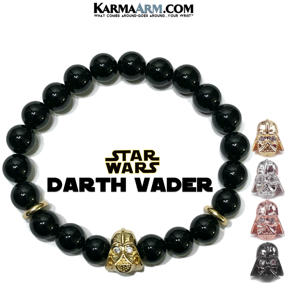 Star Wars Darth Vader Skywalker Lucas Film Jewelry.  Black Onyx.