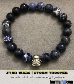Star Wars StormTrooper Yoga Bracelets. DC Comics Beaded Yoga. Handmade Bracelets. Law of Attraction #LOA | Charm Mala I Meditation & Mantra I Spiritual.