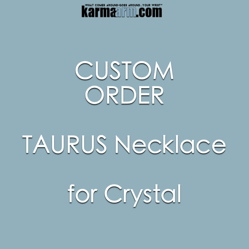 SPECIAL ORDER | CRYSTAL | Taurus Necklace