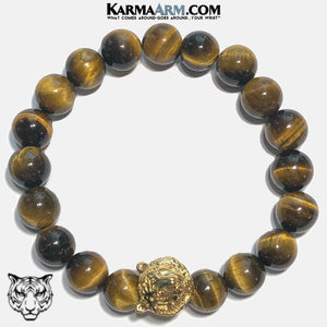 STRENGTH THROUGH COURAGE | Tiger Eye | Gold Tiger Bracelet