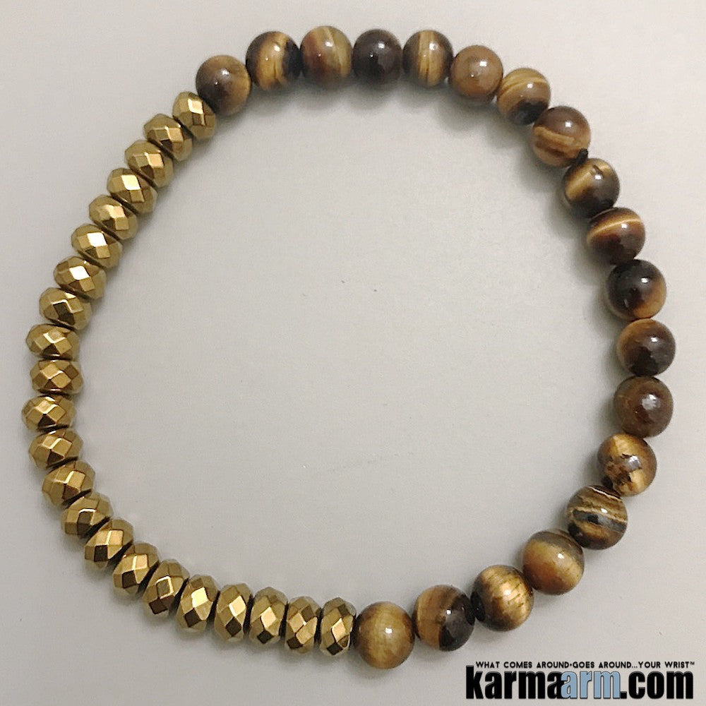Tiger Eye. Beaded Bracelets. Yoga Chakra Mala Jewelry. Energy Healing Crystals Stacks.