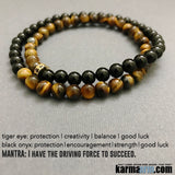 Yoga Bracelets. Stretch Tiger eye onyx Mens Jewelry. Chakra Mantra.Meditation Mindfulness.
