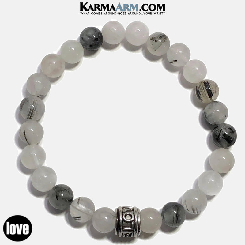 Love  Bracelet. Meditation Mantra Yoga Bracelet. Self-Care  Wellness Wristband Tourmaline Quartz.