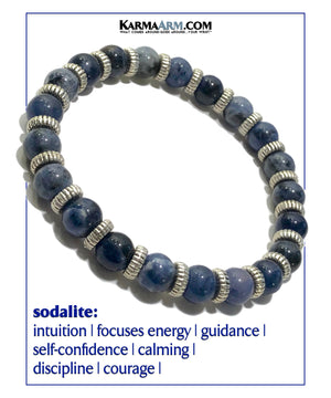 Sodalite. Yoga Meditation bracelets. self-care wellness mens bead wristband jewelry.