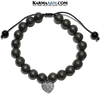Wellness Yoga Bracelets. Mens Wristband Meditation Self-Care Jewelry. Pyrite. Heart Charm.