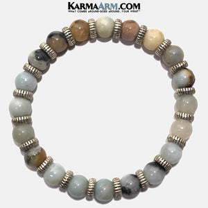 Yoga Bracelets. Meditation Jewelry. Multi Colored Amazonite. Vista.