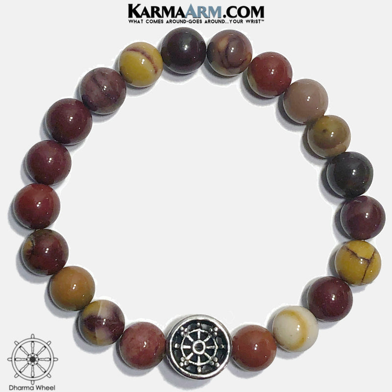 Yoga Bracelets. Meditation Self-Care Wellness Mens Wristband Jewelry. mookaite jasper. copy