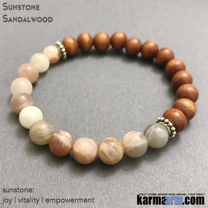 Yoga Beaded Bracelets. #LOA. Law of Attraction. Womens Mens. Energy Healing Beaded & Charm Yoga Mala I Meditation & Mantra. Spiritual. Sunstone. karma arm.