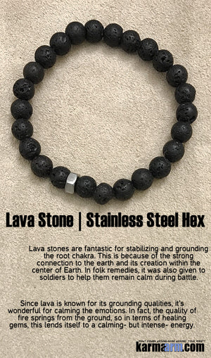 Yoga Charm Bracelets. Energy Healing. Handmade Men's Women's Luxury Beaded Mala & Jewelry. Law of Attraction. Manifest. #LOA. Black Lava.