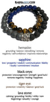 Yoga Beaded Stretch Bracelets. Mens Jewelry. Reiki Healing Energy Chakra Bracelets.