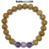 Yoga Bracelets. Self-Care Zen Meditation Jewelry. Amethyst Wristband Mens Mala.