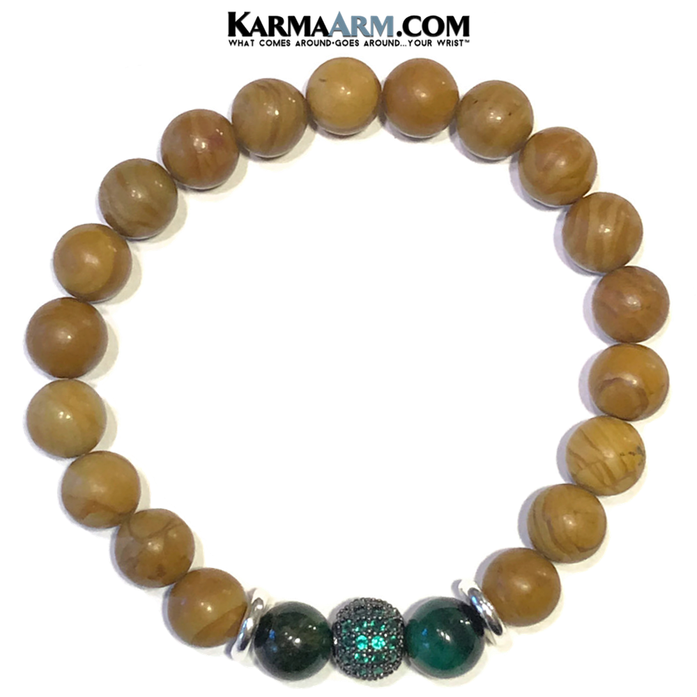 Beaded Yoga Bracelets. Meditation Self-Care Wellness Wristband Zen mens Jewelry.