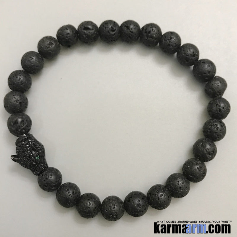 Yoga Bracelets. Black Panther Pave Lava. Men's & Women's Law of Attraction. Energy Healing. Beaded Mala. Tibetan Buddhist. #LOA.