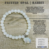 Yoga Bracelets. Stretch Chakra. Meditation Buddhist Mala Bead stretch shamballa Mala  Bracelet. Opal Rabbit White Rabbit Rabbits.