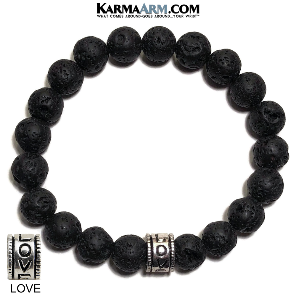 Yoga Bracelets. Love Jewelry. Meditation Zen Beaded Bracelet. Matte Black Hematite. copy 3