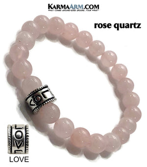 Yoga Bracelets. Love Jewelry. Rose Quartz Meditation Zen Beaded Bracelet. copy