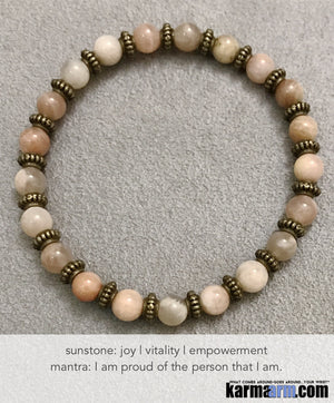 Yoga Chakra Bracelet. Mens Energy Healing Mala Stacks. Reiki Jewelry. Sunstone.