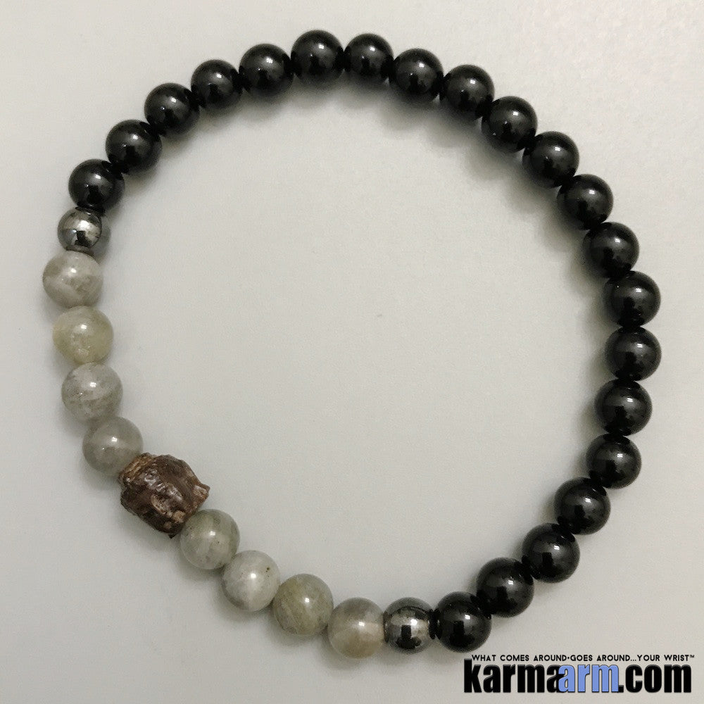 Yoga Bracelets. Mens Women's Beaded Handmade Luxury.  Law of Attraction. Energy Healing. Beaded Mala. Tibetan Buddhist. #LOA. OM Mantra. Black Onyx Buddha.
