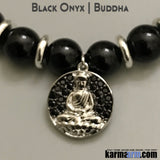 Yoga Bracelets. Mens Womens. Manifestation Beaded Prayer Mantra Spiritual Mala. Law of Attraction. #LOA Energy Healing. Lions Head Charm Black Onyx. Buddha.