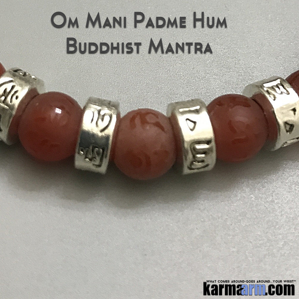 Yoga Bracelets. Om Mantra Stretch Mens Jewelry. Chakra Mantra.Meditation Mindfulness.