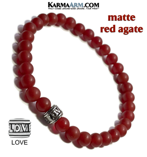 Yoga Bracelets. Red Agate Jewelry. Love Meditation Bracelet.