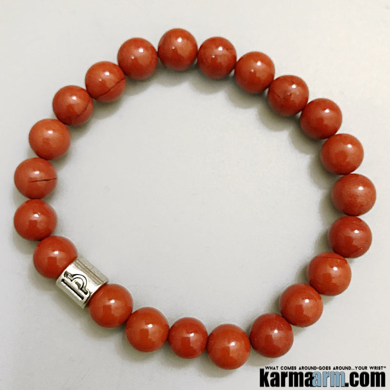 Yoga Bracelets. Red Jasper Zodiac Birth Stones Horoscope Chakra  Jewelry.