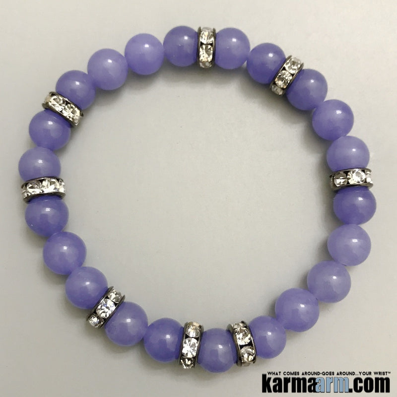 Purple Jade Yoga Chakra Reiki Beaded Bracelet jewelry.