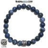 Meditation Mantra Yoga Bracelet. Love Jewelry. Sodalite.