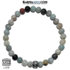 Yoga Love Bracelet. Meditation Self-Care Wellness Wristband Zen bead mala Jewelry. Amazonite 6mm.
