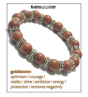 Yoga Meditation bracelets. Goldstone Mens Jewelry. copy
