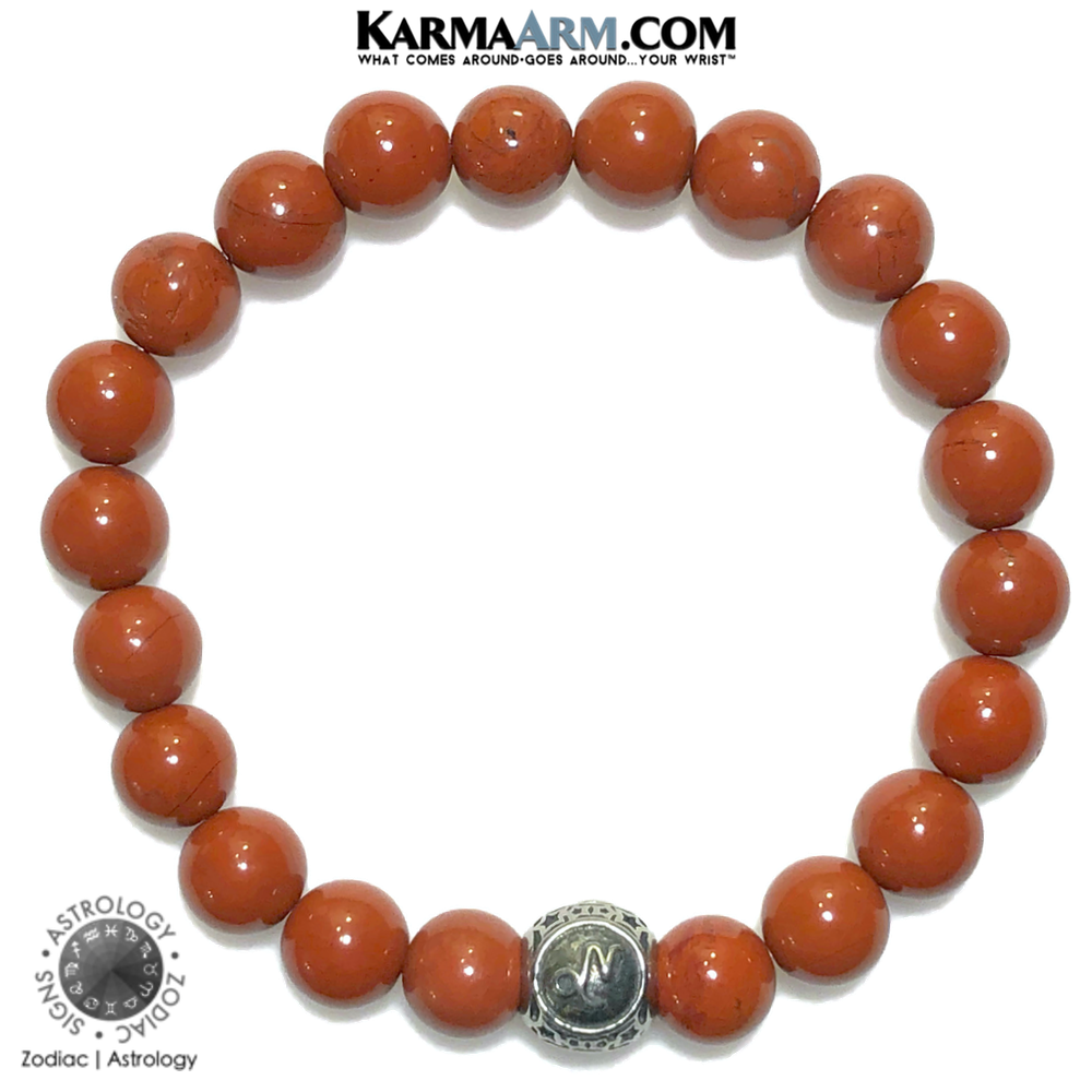 Zodiac | Astrology | Constellation Collection | Red Jasper Bracelet