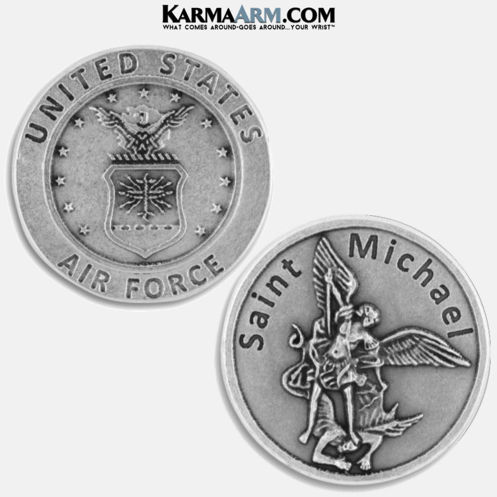 air force | St. Michael | Military Heroes Patron Saint of Cancer | Miracle Medal Pocket Token. Healing Saints | Prayer Tokens.  Lucky Poker Pocket Tokens.  Inspirational coins. copy 2