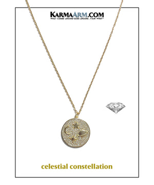 celestial constellation Diamond Necklace Ball Chain  Meditation Wellness Yoga Bracelets. Mens Wristband Jewelry.
