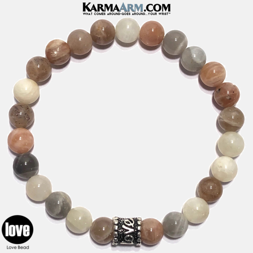 love Yoga Bracelets. beaded mens meditation wristband jewelry. Sunstone Love Bracelets.