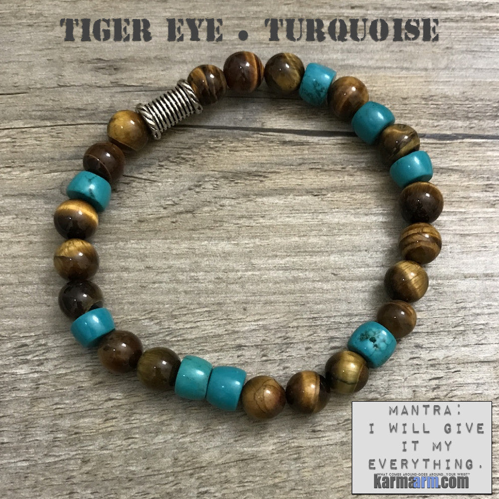 mens yoga mala bracelet womens chakra meditation beaded charm stacks. Tiger eye turquoise.