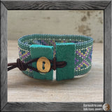 seed bead loom cuff bracelet - Seed Bead Wrap Cuff: Santa Monica Collection - Karma Arm. - 2