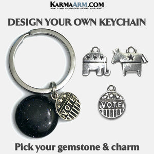 vote dnc rnc Meditation Mindfulness Keychain Gifts Key Rings. copy 3