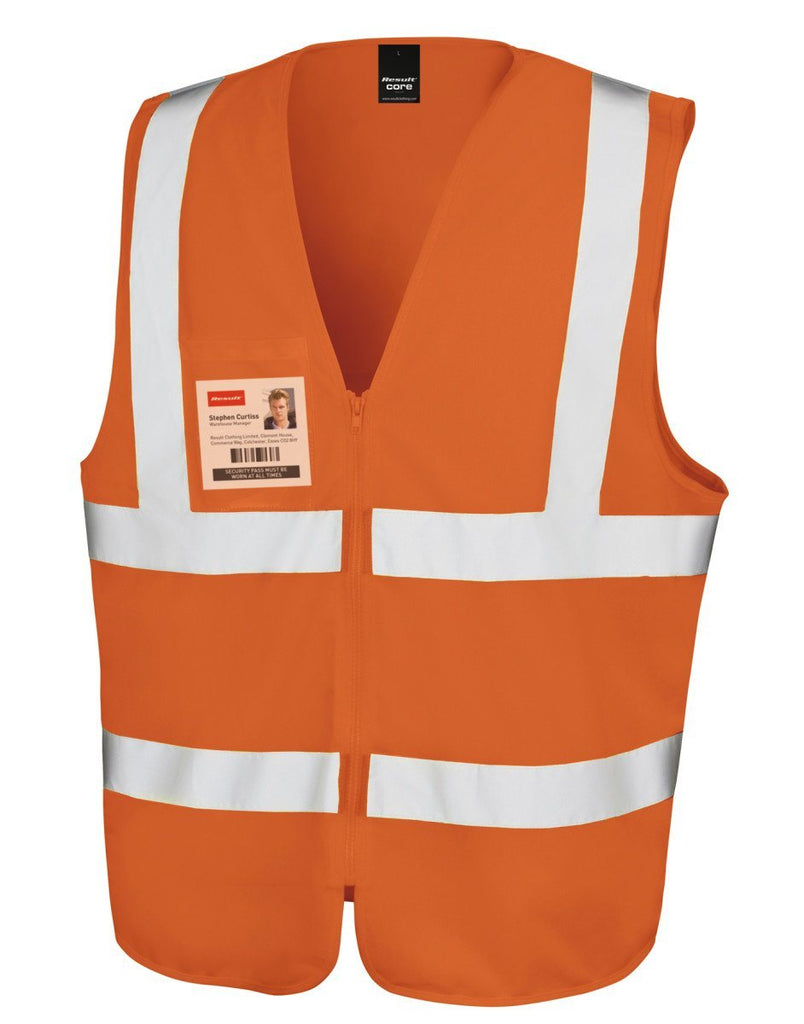 R202X Result Safe-Guard Zip Safety Tabard - Go-To Workwear Ltd
