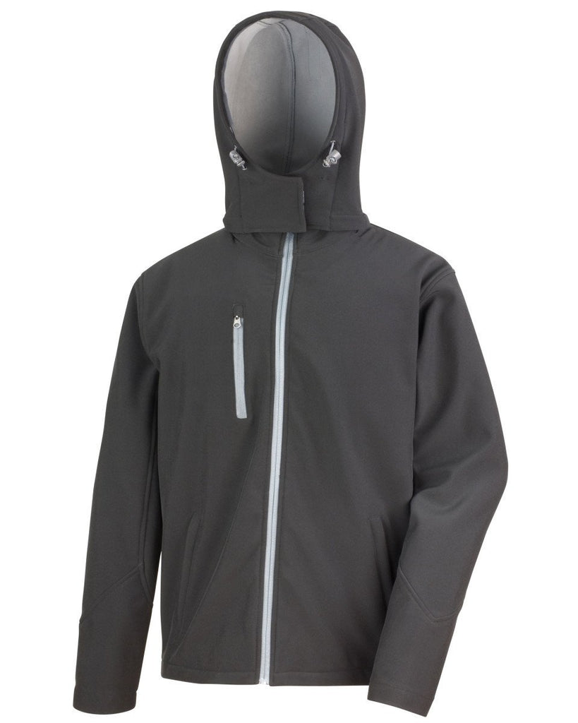 R230M Result Core Mens Lite Hooded Softshell - Go-To Workwear Ltd