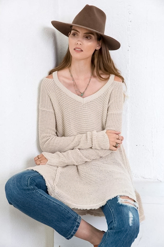 Cold Shoulder Winter Sweater Love Me Trender