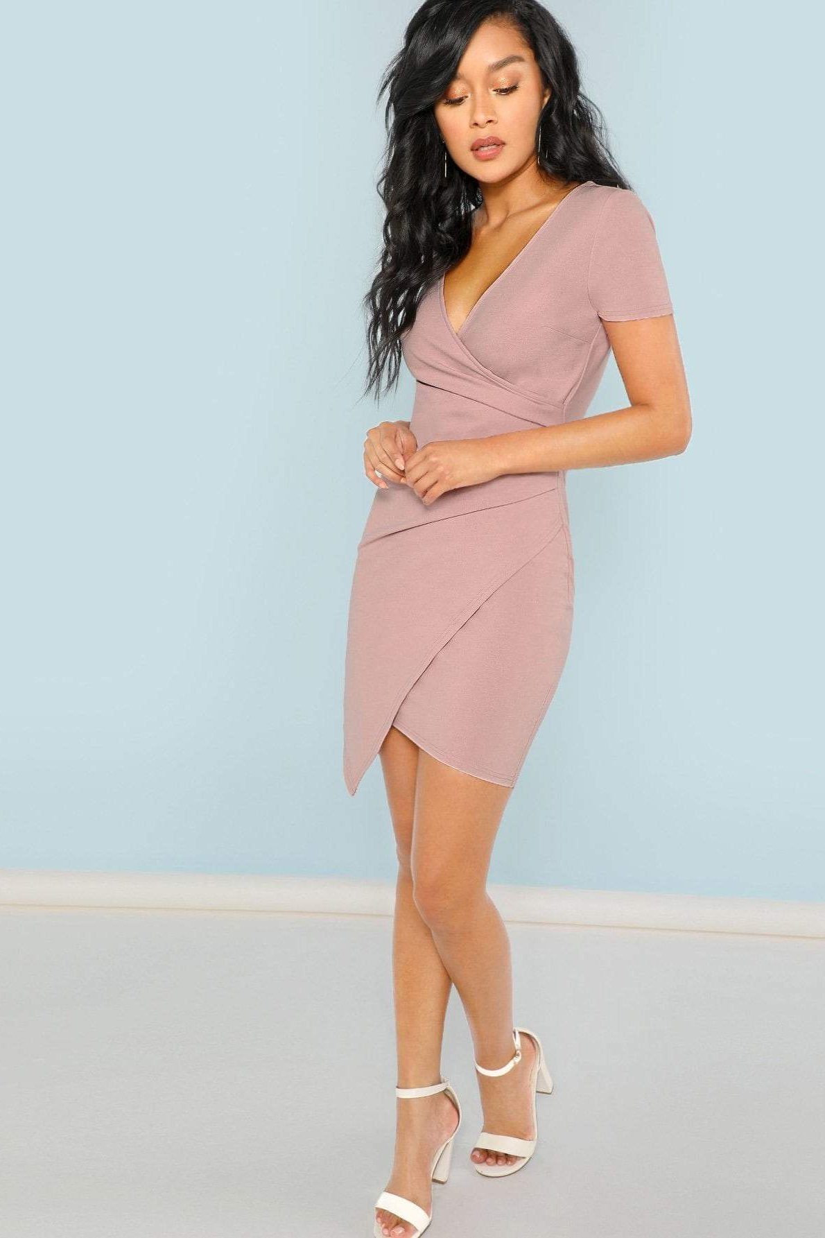 Women's Sexy Going Out Albany Wrap Fitted Dress | Love Me Trender