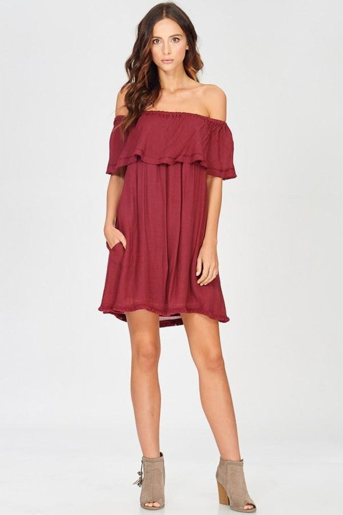 Women's Off Shoulder Ruffled 'Sahara Street' Dress | Love Me Trender