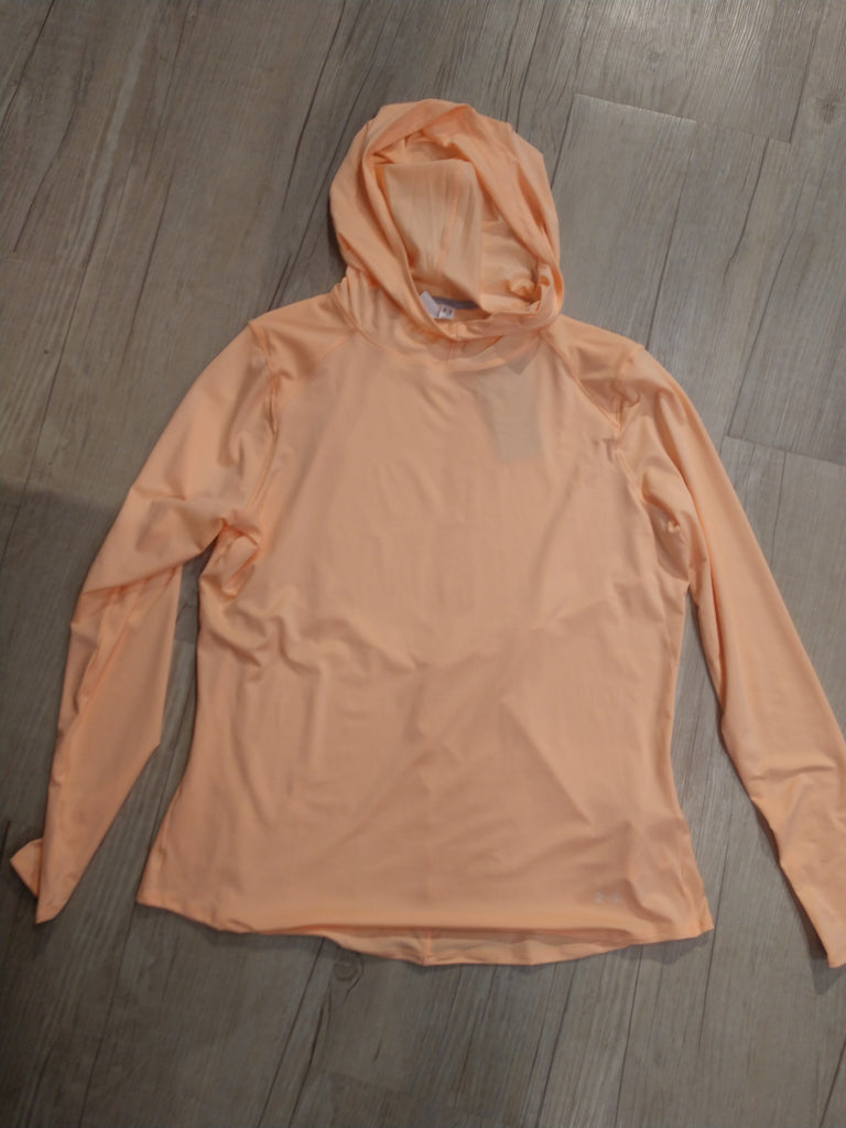 Women's Under Armour Long Sleeve Hoodie- light orange