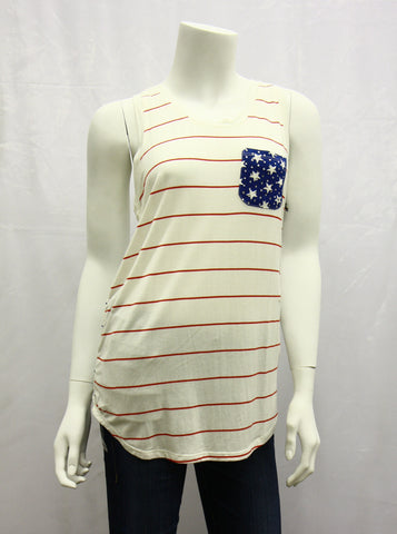 Rock and Roll- Tank- Women's- Red, White, and Blue